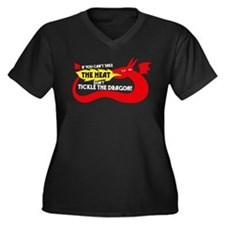 Don't Tickle the Dragon Women's Plus Size V-Neck D