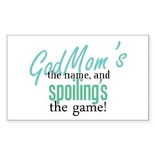 Godmom's the Name! Rectangle Decal