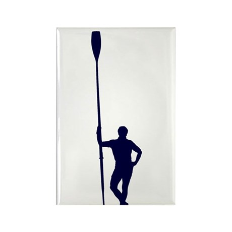 READY TO ROW BLUE Rectangle Magnet (100 pack)