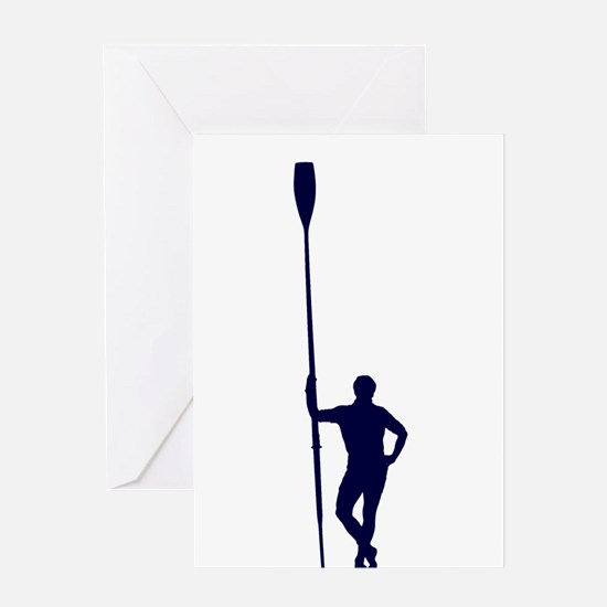 READY TO ROW BLUE Greeting Card