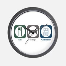 Eat Sleep Cabinetry Wall Clock