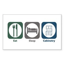 Eat Sleep Cabinetry Rectangle Decal