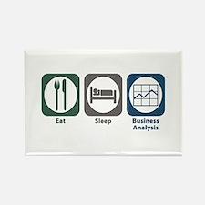 Eat Sleep Business Analysis Rectangle Magnet (10 p