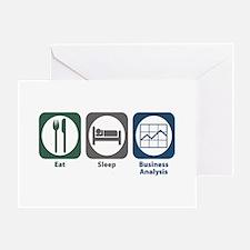 Eat Sleep Business Analysis Greeting Card
