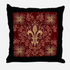 Fleur de Lis Treasure Throw Pillow