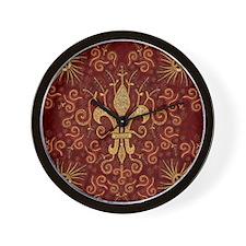 Fleur de Lis Treasure Wall Clock