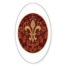 Fleur de Lis Treasure Oval Decal