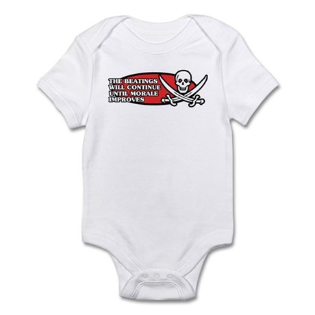 Beatings will Continue Infant Bodysuit