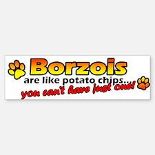 Potato Chips Borzoi Bumper Bumper Bumper Sticker