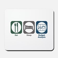 Eat Sleep Budget Analysis Mousepad