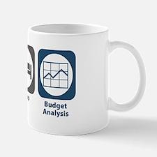 Eat Sleep Budget Analysis Mug