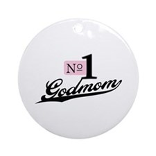 Number One Godmom Ornament (Round)