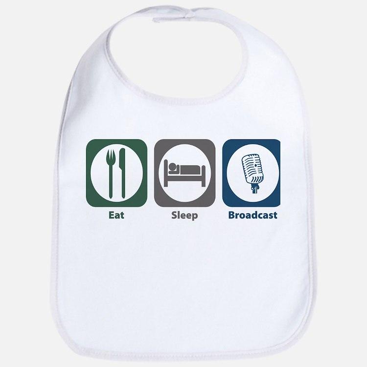 Eat Sleep Broadcast Bib