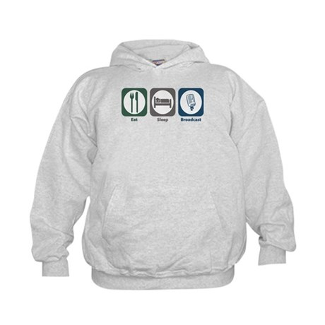 Eat Sleep Broadcast Kids Hoodie