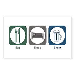 Eat Sleep Brew Rectangle Decal