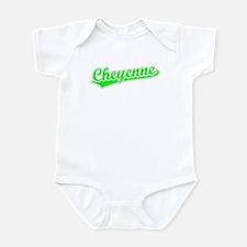 Retro Cheyenne (Green) Onesie