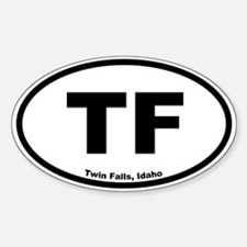 Twin Falls, Idaho Oval Decal