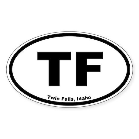 Twin Falls, Idaho Oval Sticker