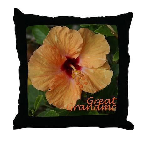 Great Grandma Hibiscus Throw Pillow