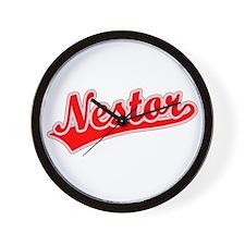 Retro Nestor (Red) Wall Clock