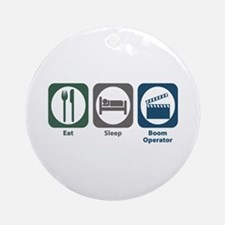 Eat Sleep Boom Operator Ornament (Round)