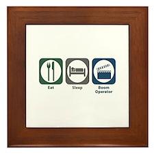 Eat Sleep Boom Operator Framed Tile