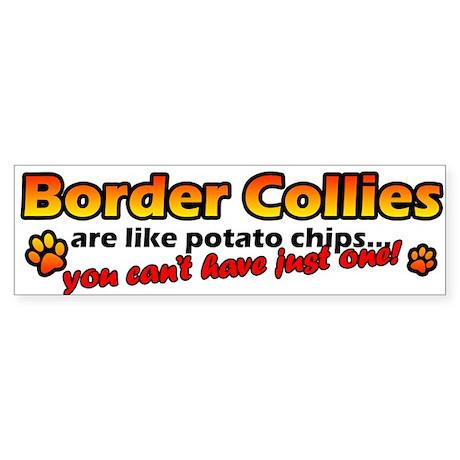 Potato Chips Border Collie Bumper Sticker