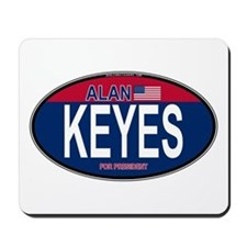 Alan Keyes RW&B Oval Mousepad