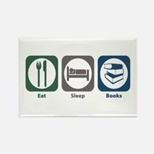 Eat Sleep Books Rectangle Magnet