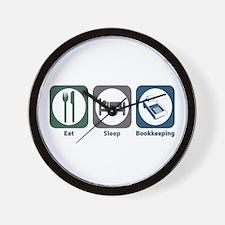 Eat Sleep Bookkeeping Wall Clock