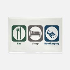 Eat Sleep Bookkeeping Rectangle Magnet