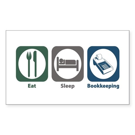 Eat Sleep Bookkeeping Rectangle Sticker 10 pk)