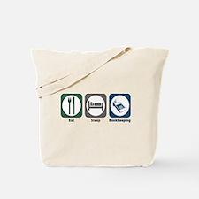 Eat Sleep Bookkeeping Tote Bag