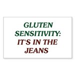 Gluten Sensitivity/In The Jeans Sticker (Rectangle
