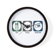 Eat Sleep Bobsled Wall Clock