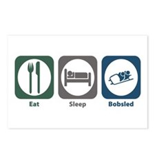Eat Sleep Bobsled Postcards (Package of 8)