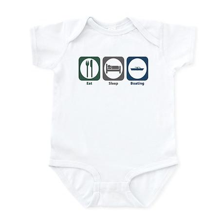 Eat Sleep Boating Infant Bodysuit