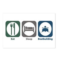 Eat Sleep Boatbuilding Postcards (Package of 8)