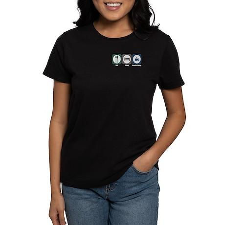Eat Sleep Boatbuilding Women's Dark T-Shirt