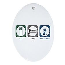 Eat Sleep Blacksmith Oval Ornament