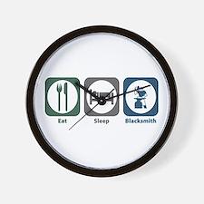 Eat Sleep Blacksmith Wall Clock