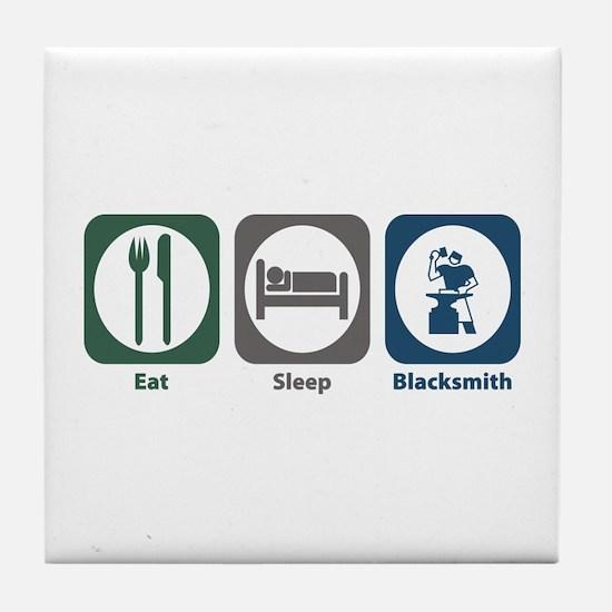 Eat Sleep Blacksmith Tile Coaster