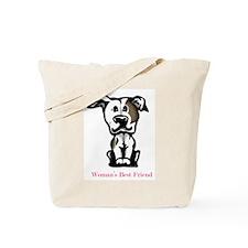 Woman's Best Friend Pit Bull Tote Bag