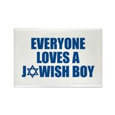 Jewish Boy Rectangle Magnet