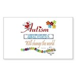 Autism Awareness Rectangle Sticker 10 pk)