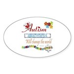 Autism Awareness Oval Sticker (10 pk)