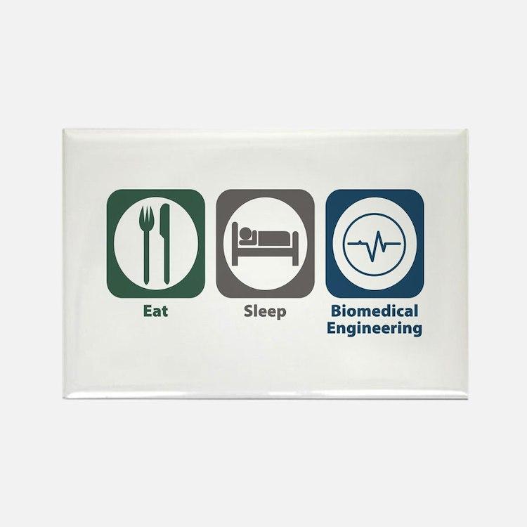 Eat Sleep Biomedical Engineering Rectangle Magnet