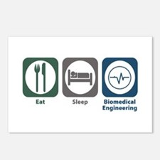 Eat Sleep Biomedical Engineering Postcards (Packag
