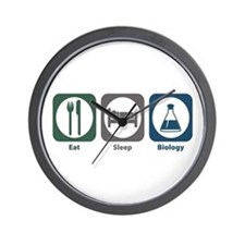 Eat Sleep Biology Wall Clock