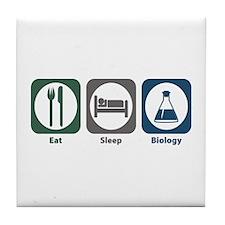 Eat Sleep Biology Tile Coaster